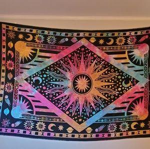 Tie dye wall tapestry